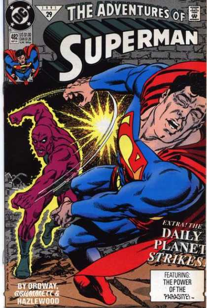 Superman 482 - Hero - Bad Guy - Violence - Daily Planet - Adventure