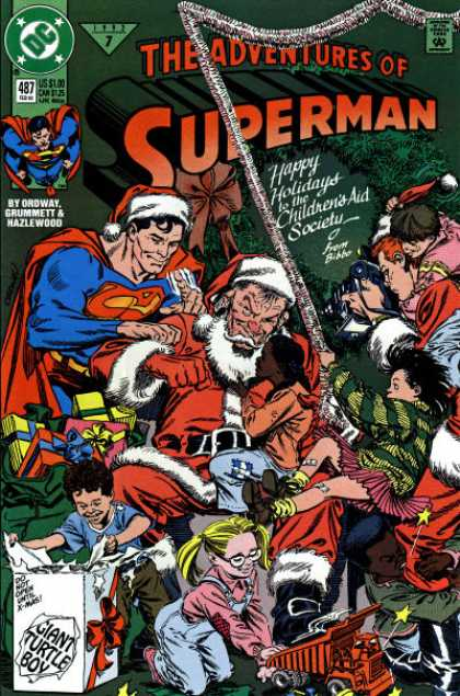 Superman 487 - Ordway Grummeit And Hazlewood - Santa Claus - Childrens Aid Society - Christmas Presents - Giant Turtle Boy