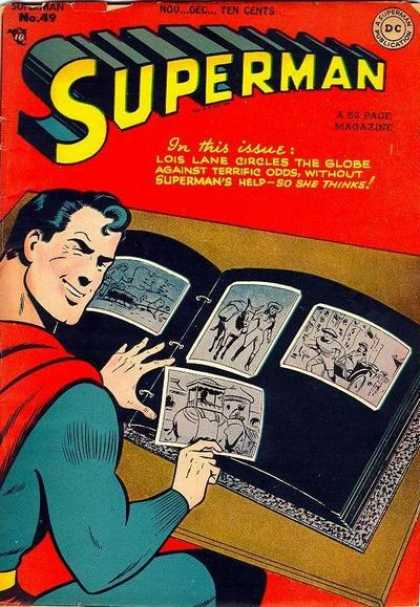 Superman 49 - Scrapbook - Blue Suit - Red Cape - Smile - Coffee Table