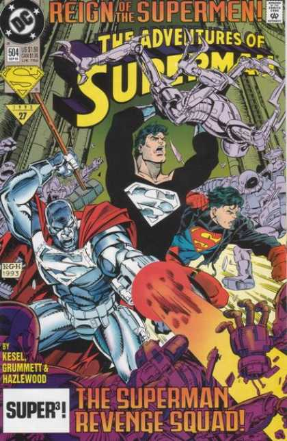 Superman 504 - Issue 504 - 1993 - Metal Robots - Super3 - Kesel Grummett U0026 Hazlewood