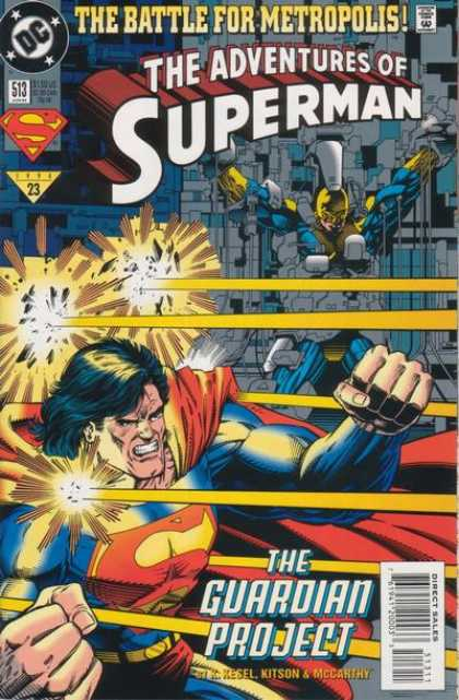 Superman 513 - Dc - Battle For Metropolis - Destruction - Laser - Fist