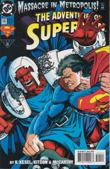 Superman 515 - Massacre In Metropolis - Adventure - K Kesel - Kitson - Mccarthy
