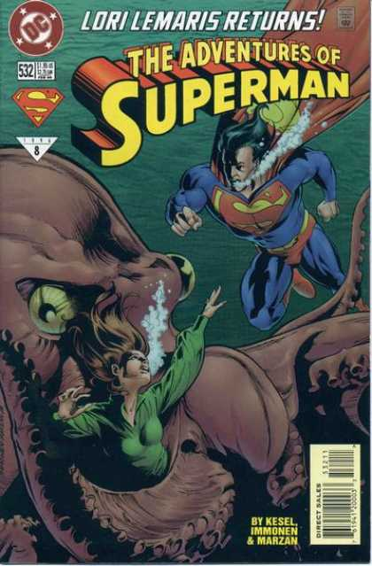 Superman 532 - Ocean - Under Water - Rescue - Woman - Gaint Octopus