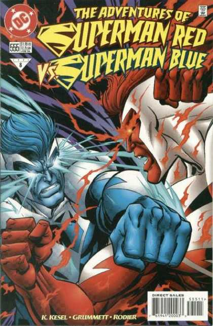 Superman 555 - Adventures - Red - Blue - Dc - Fight