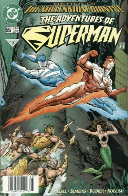 Superman 557 - The Millennium Giants - Adventures - Kesel - Semeiks - Rodier