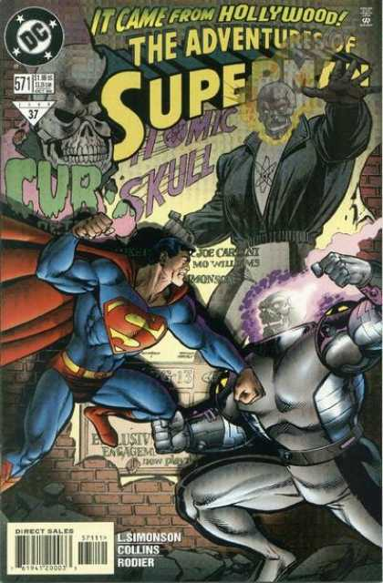 Superman 571 - Hollywood - Superman - Skulls - Simonson - Curse