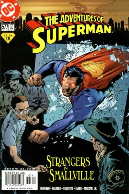 Superman 577 - Dc - Approved By The Comics Code Authority - Cap - Spectacle - Strangers In Smallvalue