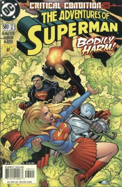 Superman 580 - 3 Authors - Ghost Of Superman - Supergirl - Superboy - Metal Superman