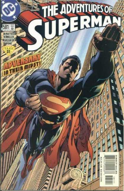 Superman 581 - The Adventures Of Superman - Adversary In Their Midst - Dc - Direct Sales - Para 31