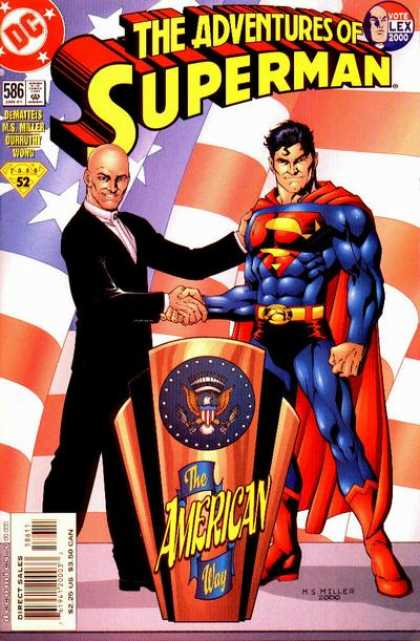 Superman 586 - 586 - Flag - Lex Luthor - 52 - Seal