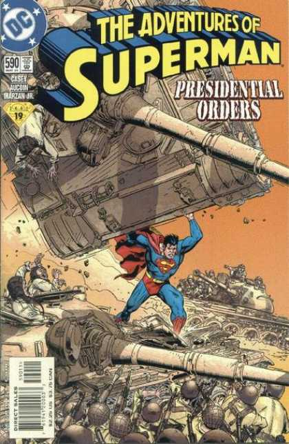 Superman 590 - Adventures - Presidential - Orders - Dc - Tank