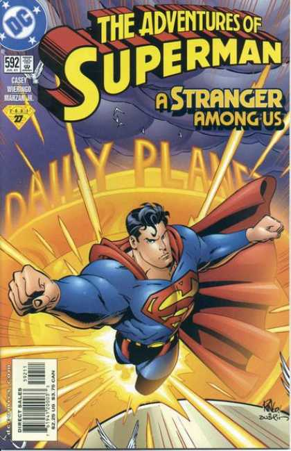 Superman 592 - Dc - Daily Planet - Casey - Adventures - A Stranger Among Us