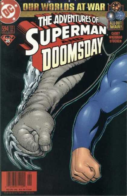 Superman 594 - Our Worlds At War - All Out War - Doomsday - War - Arms