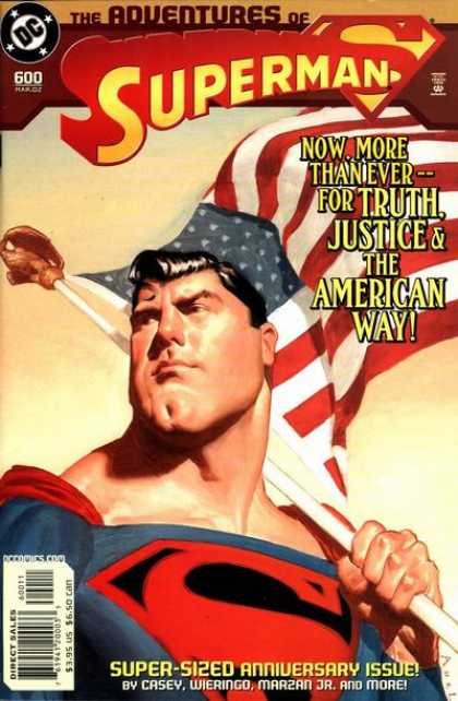 Superman 600 - An American Hero - Superman My Hero - American Flag - Superman - Truth Justice U0026 American Way - Superman And The Flag