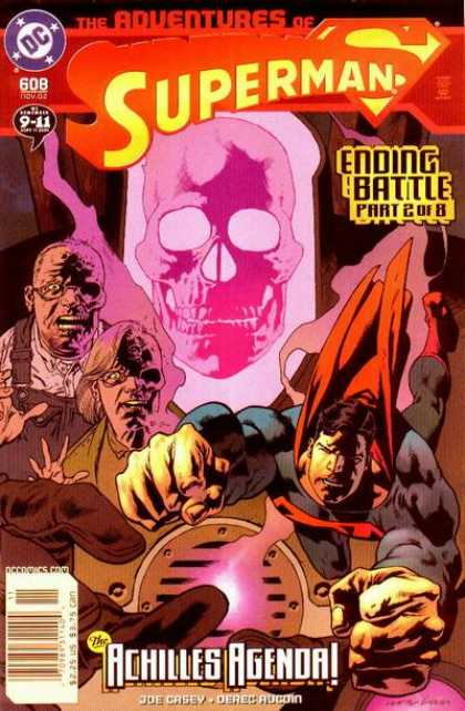 Superman 608 - Ending Battle - Zombies - Pink Skeleton - Acilles Agenda - Hand