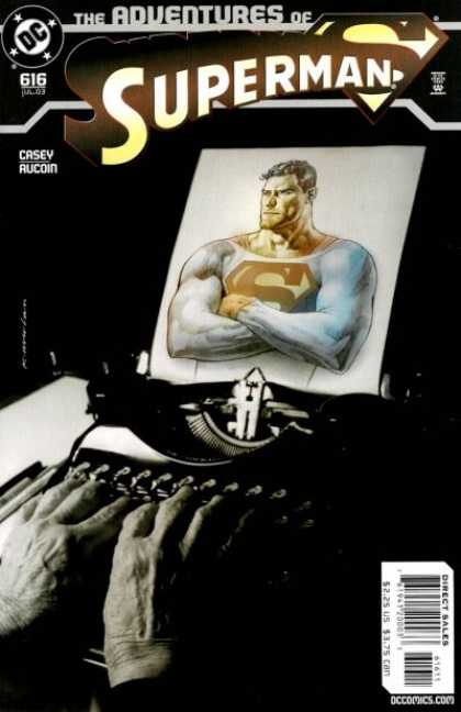 Superman 616 - 616 - Casey Aucoin - Typewriter - Fingers - Shielf