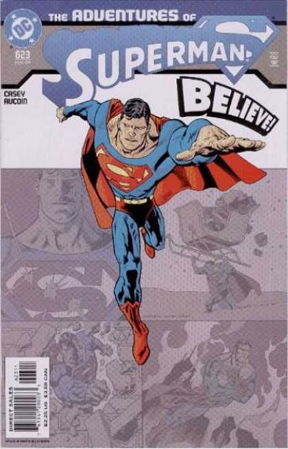 Superman 623 - Flying - Santa - Bullets - Fire - Gifts