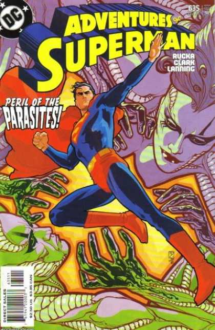 Superman 635 - Dc Comics - Peril Of Parasites - Green - Purple - Cape