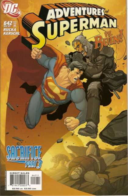 Superman 642 - Ruin - Sacrifice - Rucka - Kerschl - Attacked