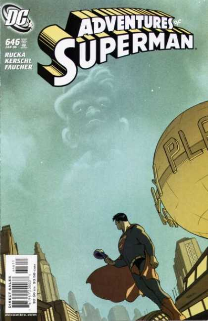 Superman 646 - Dc Comics - Globe - City - Gold - Cape