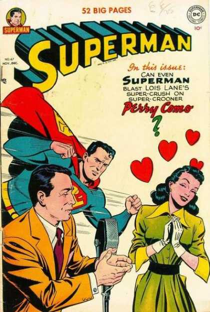 Superman 67 - Lois Lane - Perry Como - Hearts - Microphone - Crooning