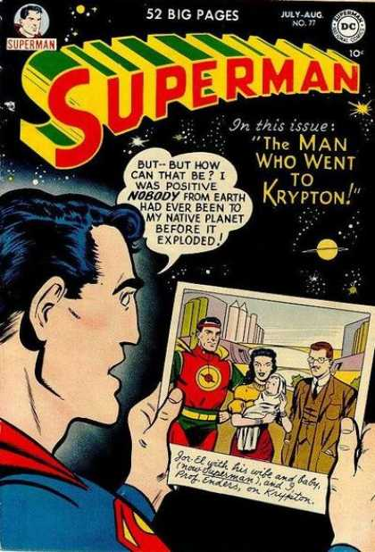 Superman 77 - Krypton - Photo - Family - Baby Picture - Prof Enders