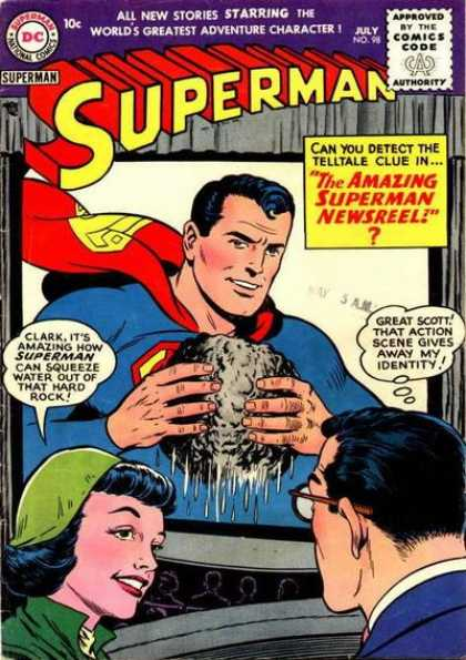 Superman 98 - Approved By The Comics Code - All New Stories - Clark - Scott - Woman