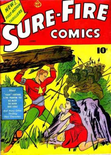 Sure-Fire Comics 1 - New - Fast Action - Thrillers - Wood - Arrow