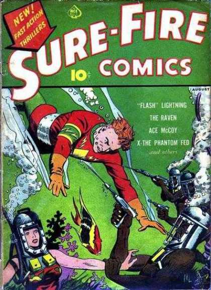 Sure-Fire Comics 2 - Flash - The Raven - Underwater - Coral - Guns