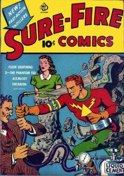 Sure-Fire Comics 4 - Hero - Girl - Smoke - Enemy - Rocks