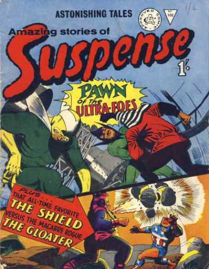 Suspense 102 - Pawn Of The Ultra-foes - The Shield - The Gloater - Fighting - Fire