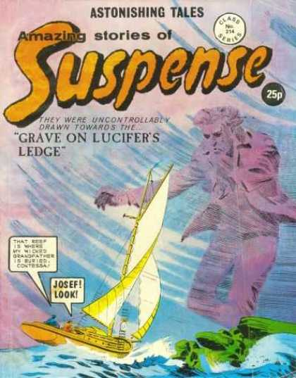 Suspense 214 - Amazing Stories - Ocean - Sailboat - Grave On Lucifers Edge - Sea