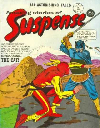 Suspense 219 - Cat - Sword - Karate - Crimson Crusher - Fight