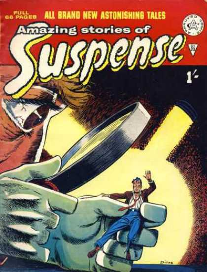 Suspense 23 - Amazing Stories - Approved Comic - Full 68 Pages - Lens - All Brand New Astonshing Tales