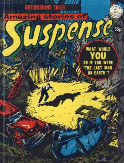 Suspense 241 - Amazing Stories - Class No 241 Series - Astonishing Tales - Car - Man