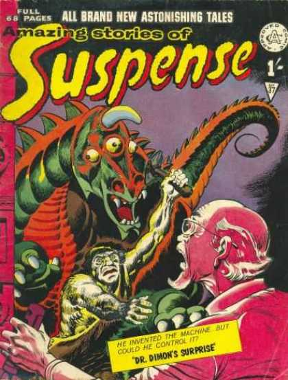 Suspense 37 - Full 68 Pages - Monster - Approved - Man - Axe