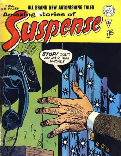 Suspense 42 - Phone - Curtain - Hand - Gold Cuff Link - Ringing