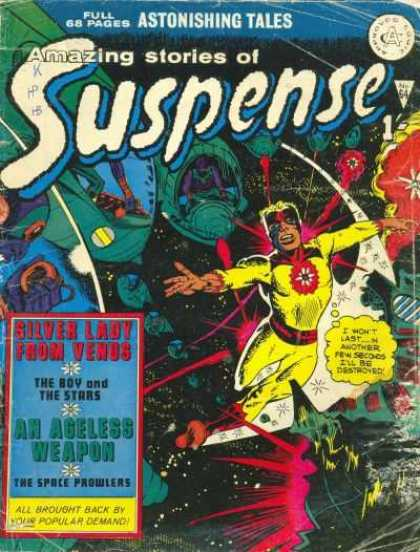 Suspense 64 - Full 68 Pages - Astonishing Tales - Amazing Stories Of - Silver Lady From Venus - The Boy And Ths Stars