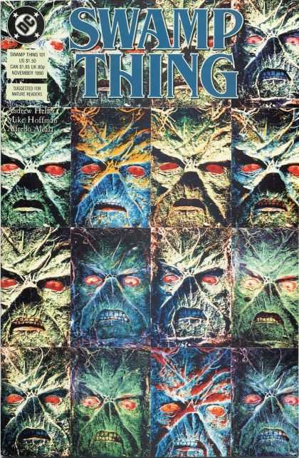 Swamp Thing 101 - Swamp Thing - Dc - Montage - Faces - Mike Hoffman