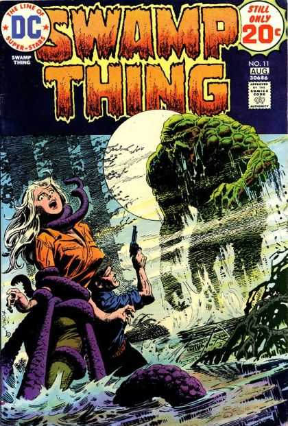 Swamp Thing 11 - Dc - Super Stars - Still Only 20c - No 11 Aug - Swamp Thing - Luis Dominguez