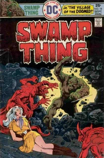 Swamp Thing 18 - Rough Man - Woman - Fight Unkown Image - Rock - Haunger Woman - John Totleben, Nestor Redondo