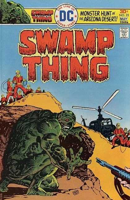 Swamp Thing 22 - Monster Hunt In The Arizona Desert - Helicopter - Guns - Red Containment Suit - No 22 - Eric Powell, Ernie Chan
