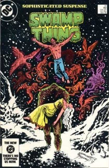 Swamp Thing 31 - Dc - Birds - Bare Chest - Blue Jeans - Snow