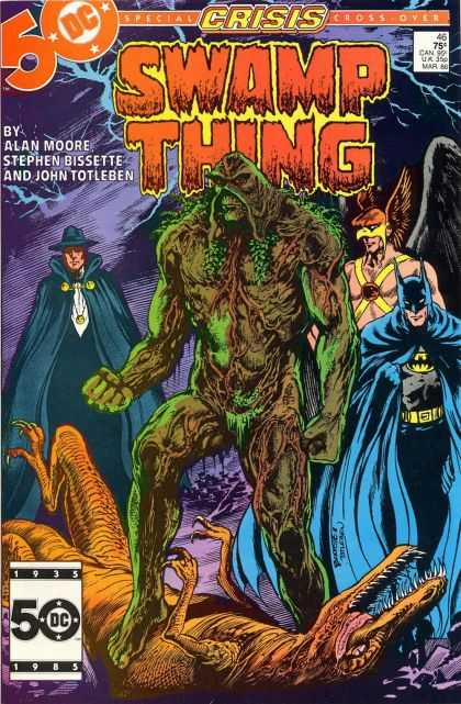Swamp Thing 46 - Batman - Dinosaur - Special Edition - Cross Over Comic - Old - John Totleben
