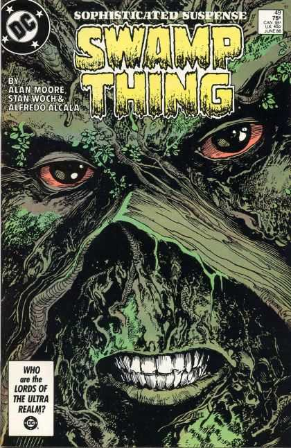 Swamp Thing 49 - Swamp Thing - Alan Moore - Stan Woch - Alfredo Alcala - Close Up - John Totleben