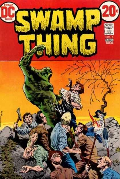 Swamp Thing 5 - Dc - Approved By The Comics Code Authority - Aug - Tree - Axe - Bernie Wrightson