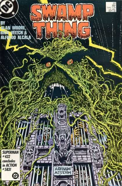 Swamp Thing 52 - Alan Moore - Alcala - Storm - Lightning - Asylum