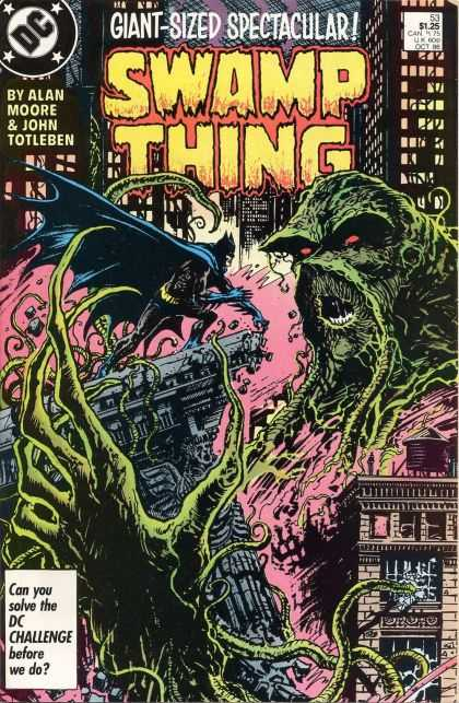 Swamp Thing 53 - Monster - Scared - Letters - Words - Eyes