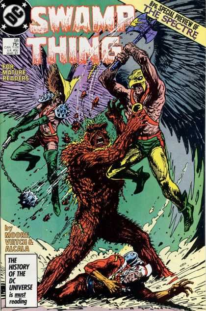 Swamp Thing 58 - The Spectre - Bird Man - Axe - Wings - Monster