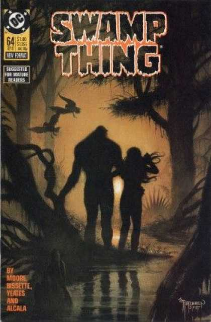 Swamp Thing 64 - Swamp - Bats - Water - Trees - Mature Readers - John Totleben